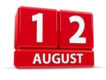 Sześciany 12th Sierpień Obrazy Royalty Free
