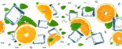 sześciany zamrażają pomarańcze Fotografia Stock