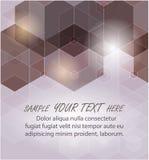 sześciokąt abstrakcyjne tło Technologia poligonalny projekt Cyfrowego futurystyczny minimalizm royalty ilustracja