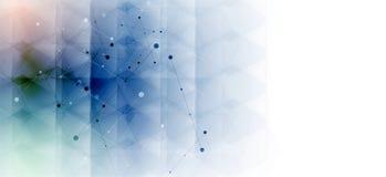 sześciokąt abstrakcyjne tło Technologia poligonalny projekt Digita Obrazy Royalty Free