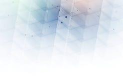 sześciokąt abstrakcyjne tło Technologia poligonalny projekt Digita Obraz Royalty Free