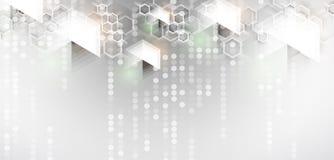 sześciokąt abstrakcyjne tło Technologii poligonal projekt Cyfrowego futurystyczny minimalizm ilustracji