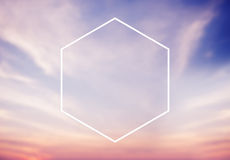 Sześciokąt ikony ramy symbolu kopii przestrzeni pojęcie Zdjęcie Stock