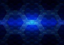 Sześciokąt technologii tła abstrakcjonistyczna ilustracja Zdjęcie Stock
