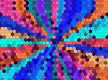 Sześciokąta abstrakta tło Fotografia Royalty Free