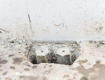Sześciokąta betonowy słup Zdjęcia Royalty Free