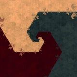 Sześciokąta fractal obrazy stock