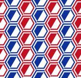 Sześciokąta geometrical bezszwowy wzór, Rosja flaga barwi royalty ilustracja