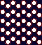 Sześciokąta Geometryczny Bezszwowy wzór w Czerwonym i Błękitnym ilustracja wektor