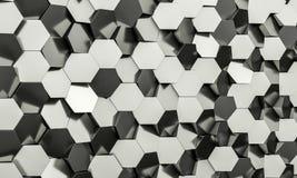 Sześciokąta geometryczny tło Zdjęcie Royalty Free