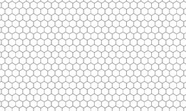 Sześciokąta honeycomb wzoru wektoru netto tło royalty ilustracja