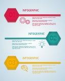Sześciokąta infographic szablon Może używać dla obieg układu, diagram sieci projekt, infographics Fotografia Royalty Free