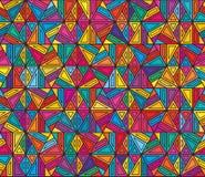 Sześciokąta kreskowego stylu kolorowy kwadrat żadny kwadratowy bezszwowy wzór royalty ilustracja
