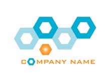 Sześciokąta logo Fotografia Royalty Free