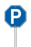 Sześciokąta parking znak ilustracji