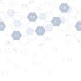 Sześciokąty genetyczni Nowożytny struktury molekuły DNA Atom Molekuły i komunikaci tło dla medycyny, nauka royalty ilustracja