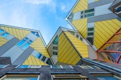 Sześcianów domy, Rotterdam holandie Zdjęcia Royalty Free