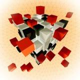 sześcian abstrakcyjne Zdjęcia Stock