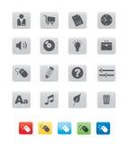 sześcian ikona gray02 Fotografia Royalty Free