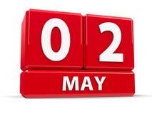 Sześciany 2nd May Zdjęcia Royalty Free