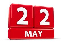 Sześciany 22nd May Zdjęcia Royalty Free