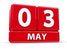 Sześciany 3rd May Zdjęcia Stock