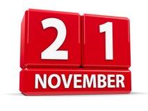 Sześciany 21st Listopad Zdjęcie Stock