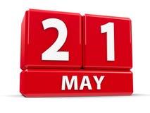 Sześciany 21st May Obrazy Stock