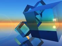 sześciany szklani Obrazy Stock