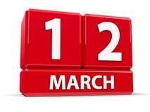 Sześciany 12th Marzec Obraz Royalty Free