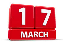 Sześciany 17th Marzec Fotografia Stock
