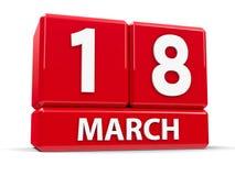 Sześciany 18th Marzec Zdjęcia Royalty Free