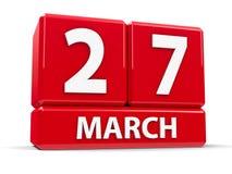 Sześciany 27th Marzec Zdjęcie Royalty Free