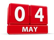 Sześciany 4th May Zdjęcie Stock