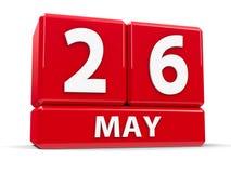 Sześciany 26th May Obraz Royalty Free