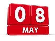 Sześciany 8th May Obrazy Royalty Free