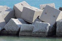 Sześciany w morzu Zdjęcia Royalty Free