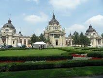 Szechenyi温泉,布达佩斯 免版税库存图片