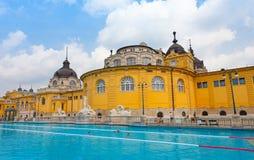 Szechenyi热量浴在布达佩斯 免版税库存图片