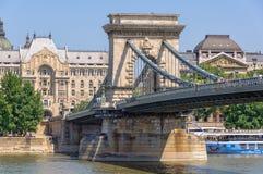 Szechenyi Łańcuszkowy most - Budapest obrazy royalty free