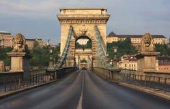 szechenyi моста цепное Стоковые Изображения RF