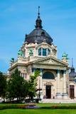 The Szechenyi bath. The Szechenyi spa the Varosliget (main city park of Budapest Royalty Free Stock Photo