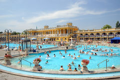 The Szechenyi Bath in Budapest Royalty Free Stock Photo
