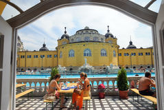 The Szechenyi Bath in Budapest Royalty Free Stock Photography