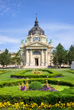 Szechenyi Baths in Budapest. Szechenyi Medicinal Thermal Baths and Spa Baroque architecture in Budapest, Hungary Royalty Free Stock Photo