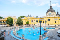 Szechenyi Baths in Budapest in Hungary on a sunny day. Stock Photography