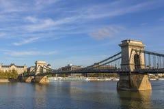 Szechenyi bro Budapest Royaltyfria Foton