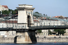 Szechenyi Chain Bridge Royalty Free Stock Images