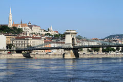 Szechenyi Chain Bridge Stock Image