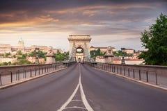 Szechenyi Chain Bridge in beautiful Budapest. Hungary. Stock Photos